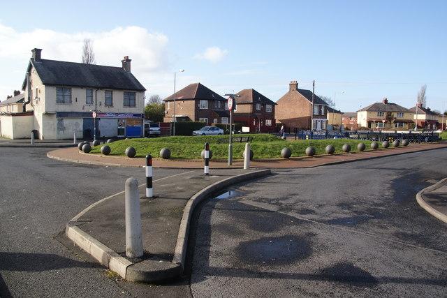 Landscaped area at the centre of the Callon Estate