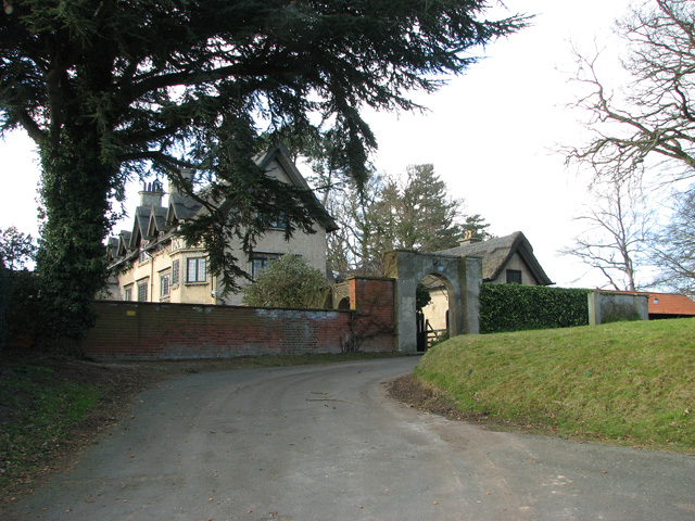 Entrance to How Hill House, Ludham