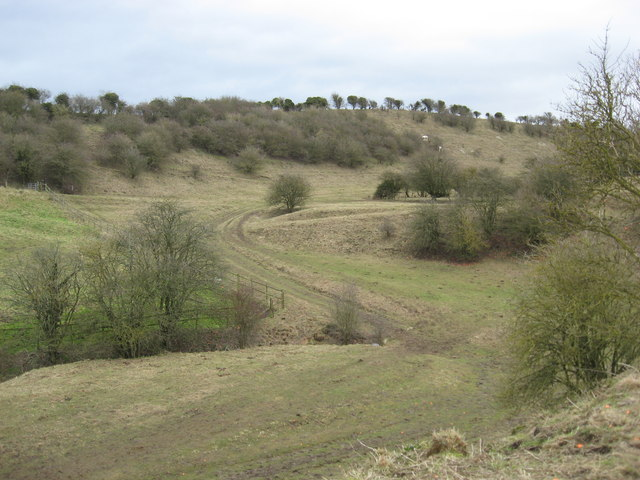 The upper Medbourne valley, much loved by Richard Jefferies