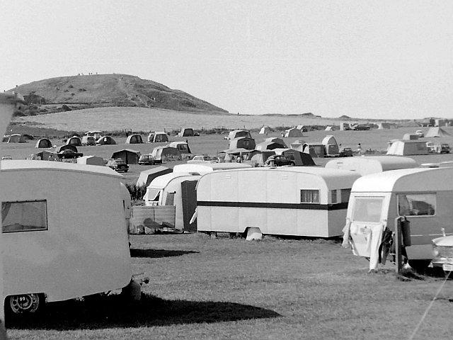 View across the camp site, Beeston Regis