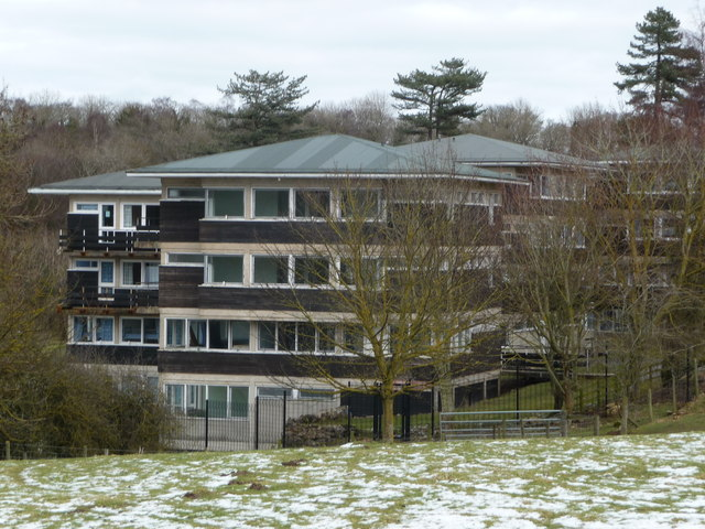 Close-up of Outdoor Education Centre accommodation blocks