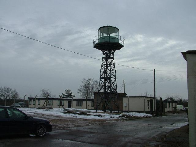 Watchtower at former RAF Barnham site