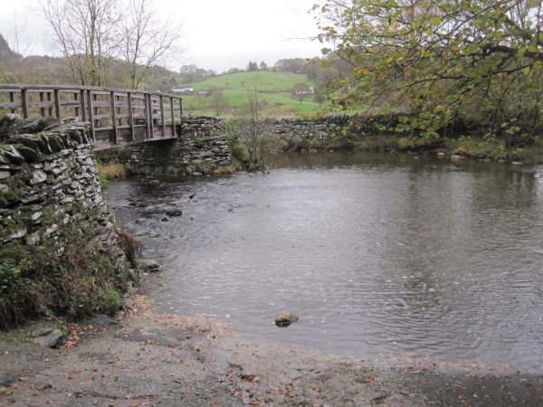 Footbridge and Ford, River Brathay, Little Langdale