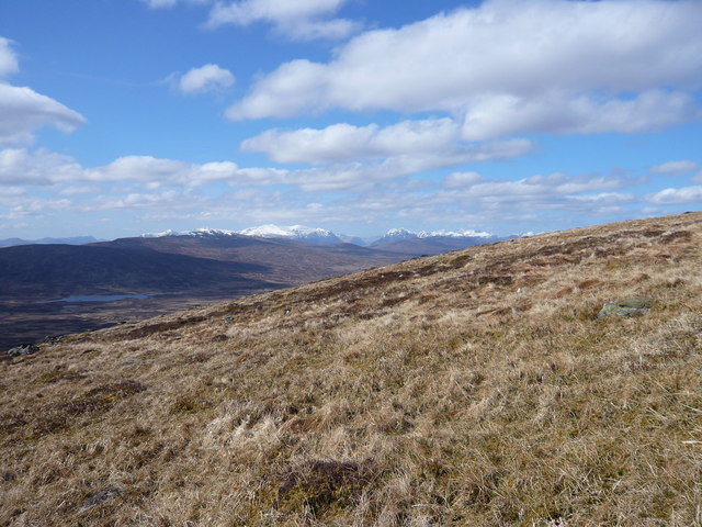 Lower slopes of Sron Leachd a'Chaorainn