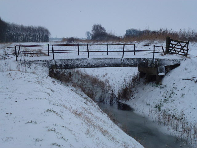 Snow covered bridge, Rummer's Lane