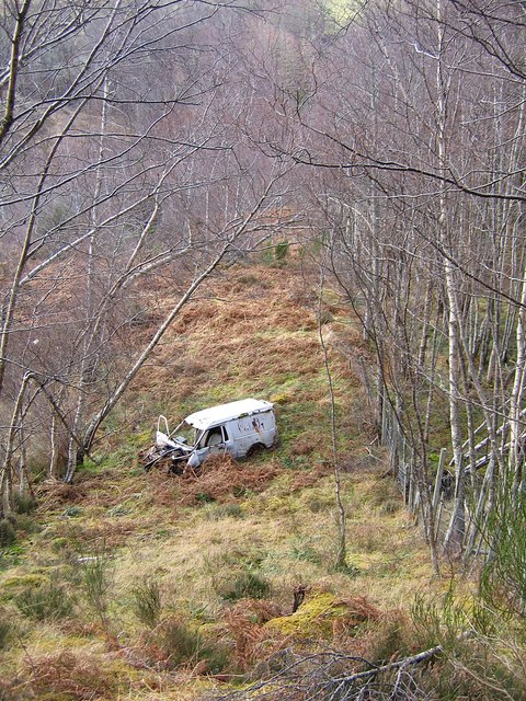 Abandoned van, in Boblainy forest