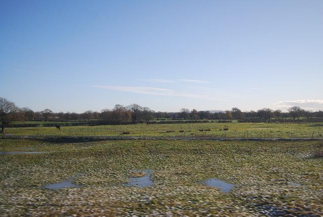 Localised flooding near Dunkirk Farm