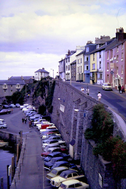 Brixham, King Street &amp; Quay Car Park 1967