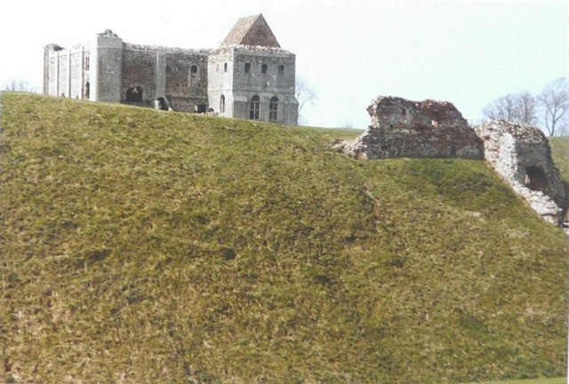The castle at Castle Rising in 1984