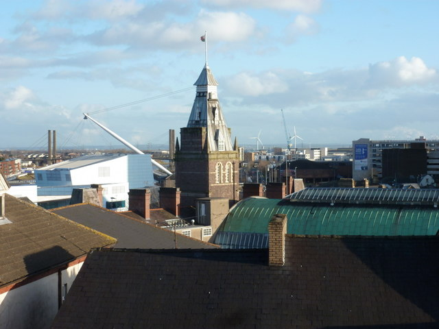 Newport: a roofscape