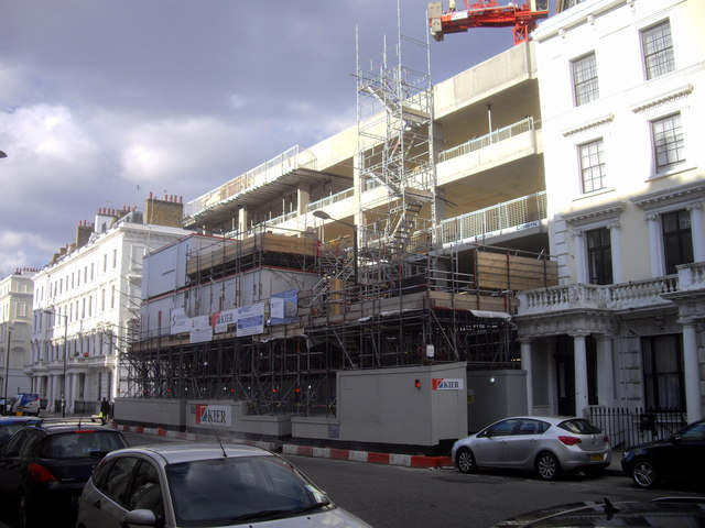 Flats under construction in St George's Drive Pimlico