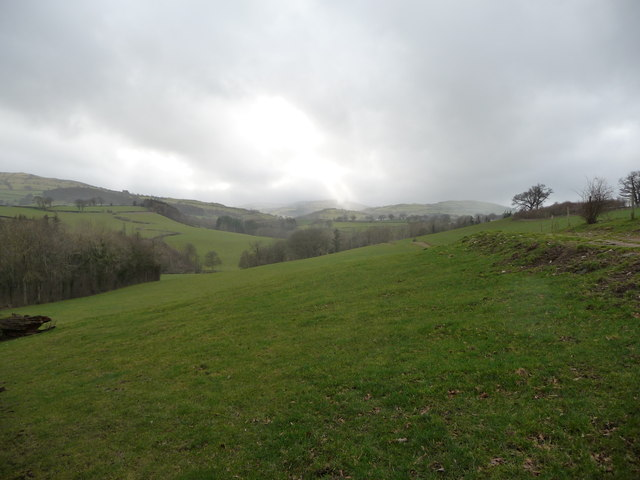 Sunshine and showers in the Denbighshire hills
