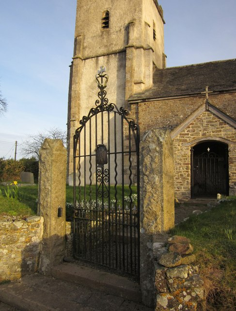 Gate, St Mary�s church, Honeychurch