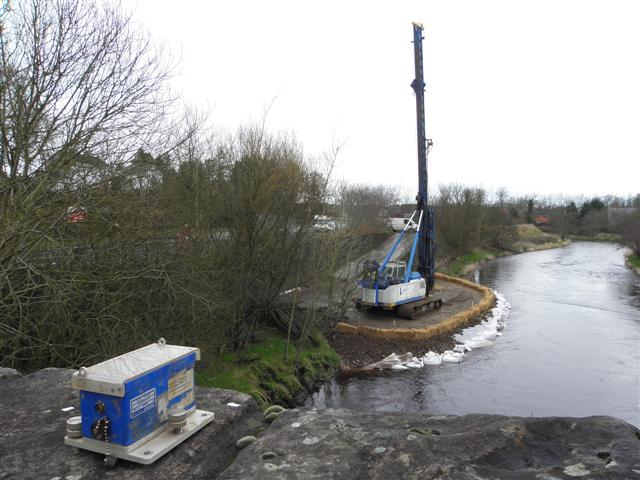 Piling at Irishtown, Omagh