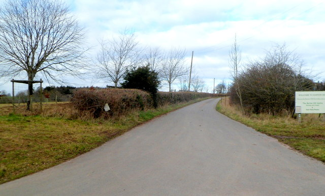 Road to the Barton Hill Animal Centre, Kentchurch