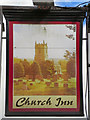 SJ6397 : Church Inn Sign by David Dixon