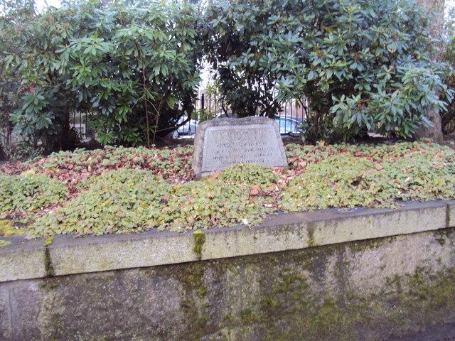 Memorial Stone for Mary Garden
