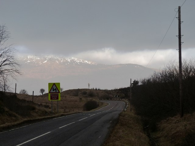 A819 begins a switchback down to Claddich