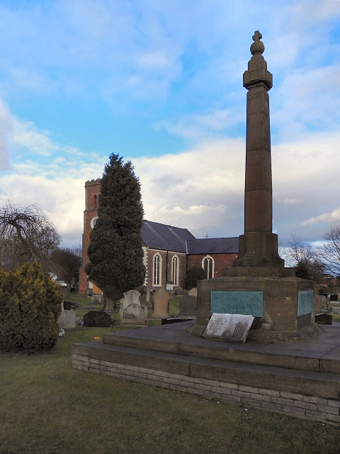 War Memorial and St Luke's Church, Lowton