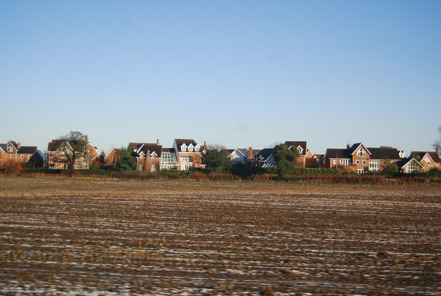New houses and a ploughed field