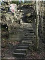 NZ1762 : Steps on east side of Blaydon Burn valley by Andrew Curtis