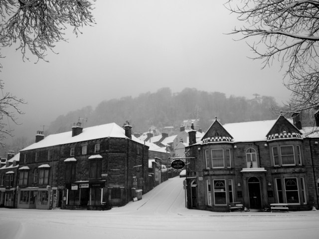 Snow at Matlock Bath