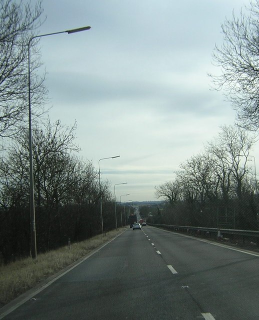 A1 southbound, between the Edworth turn and the A1(M) at Baldock