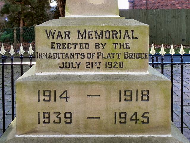 War Memorial Inscription