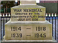 SD6003 : War Memorial Inscription by David Dixon