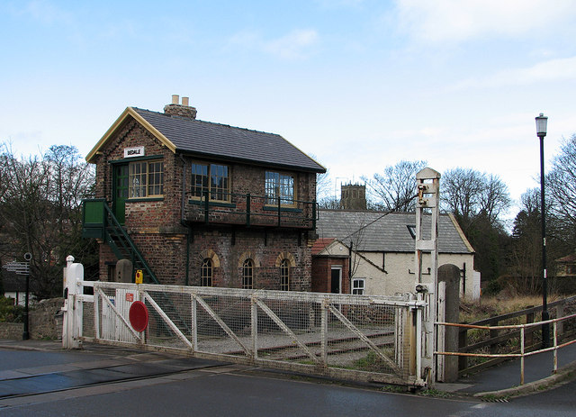 Bedale Signal Box and Level Crossing
