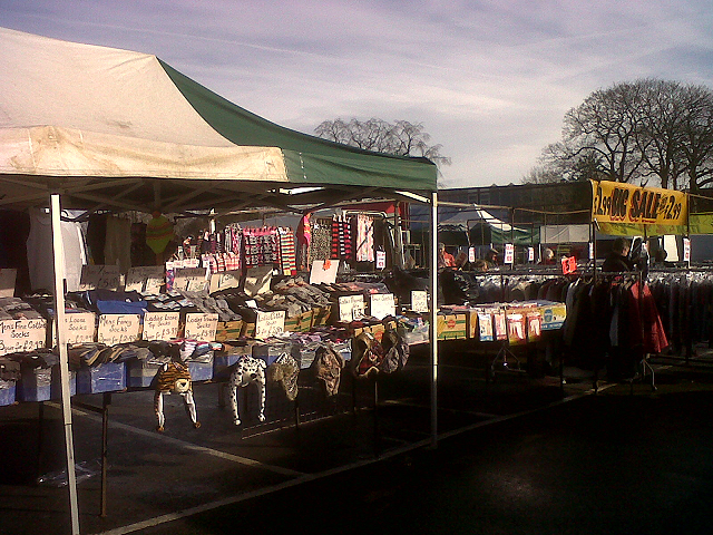 Sandbach market  - clothing