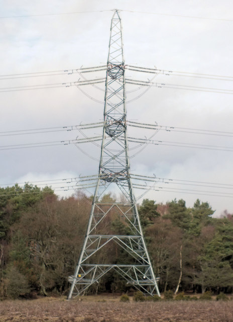 Pylon near Woolmer Post