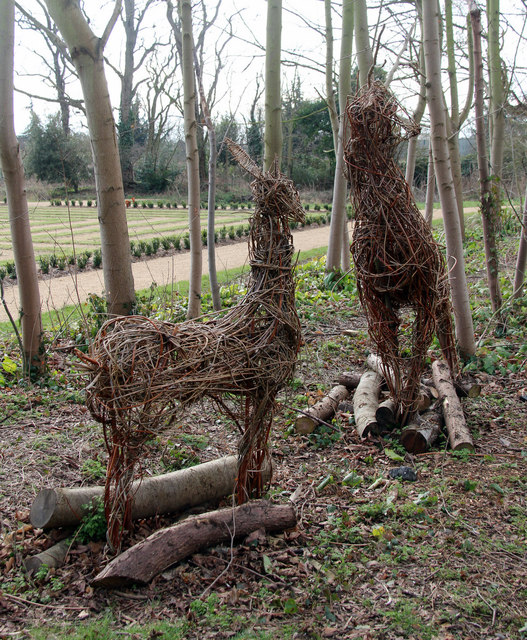 Wicker Deer, Cedars Park, Cheshunt, Hertfordshire