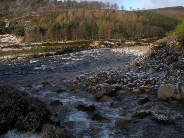 Allt Garbhlach joins the River Feshie