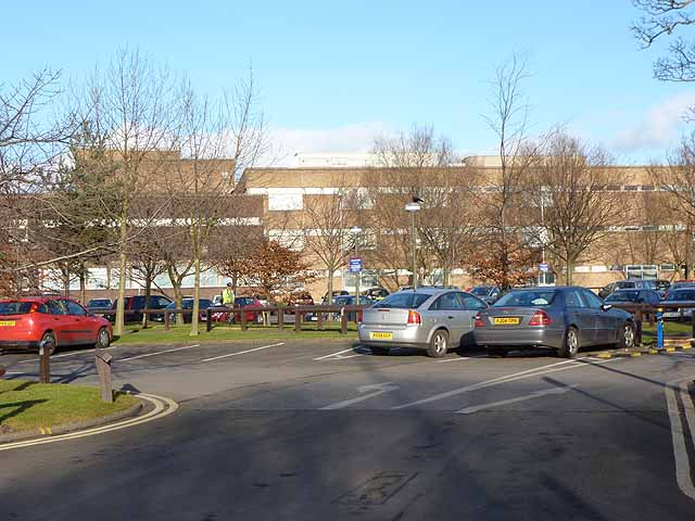 Freeman Hospital and car park