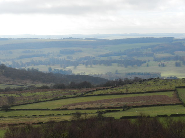 View towards Edensor, from Birchen Edge