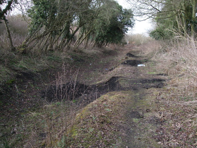 bed of disused wilts  u0026 berks canal     u00a9 vieve forward cc 2 0    geograph britain and ireland