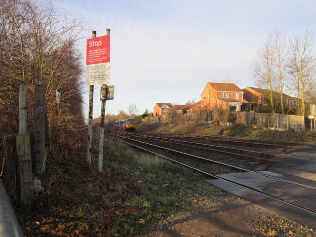 The Scunthorpe train at Hatfield Lane, Barnby Dun