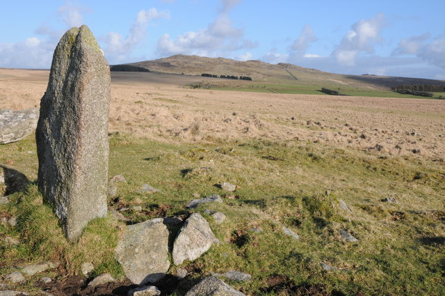 Standing stone on Steping Hill