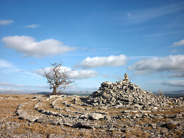 Cairn on Helsington Barrows