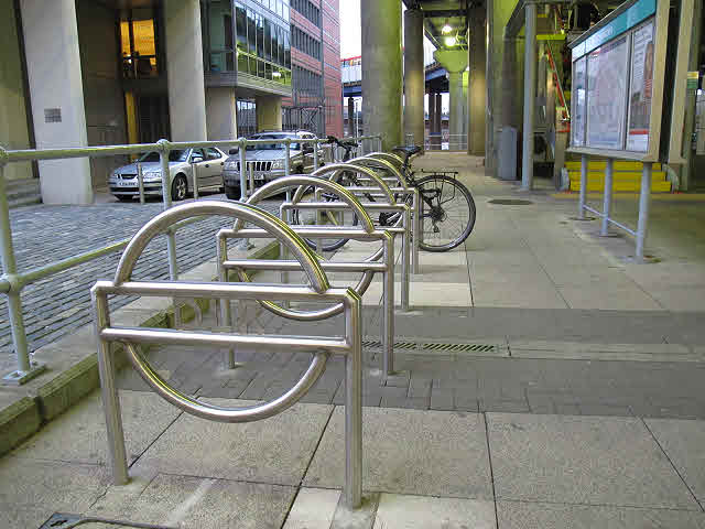 Cycle parking for the DLR