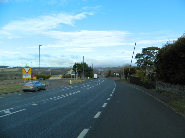 The A40 at the junction with the A436