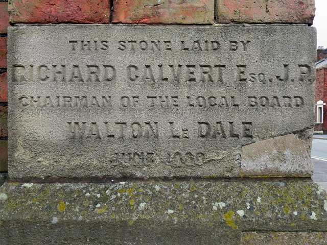 Walton Le Dale Local Board Offices (foundation stone)