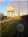 SP8129 : Water tower and Wellington plaque by Philip Jeffrey