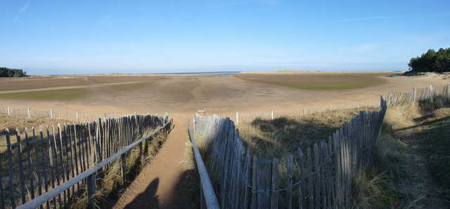 Holkham sands panorama in winter