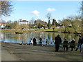 TQ4370 : Pond, Chislehurst by Robin Webster