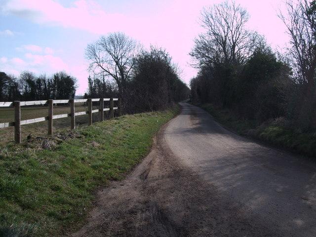Minor road towards Barnsley