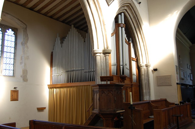 Organ in Wye Church
