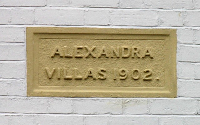 Alexandra Villas sign Albert Road