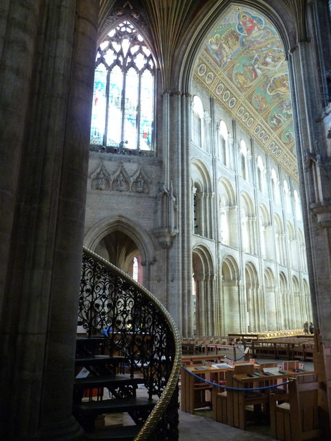 Looking back down the nave